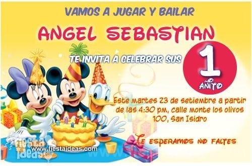 Invitaciones De Mickey Mouse Gratis