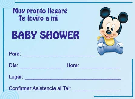 Invitaciones De Mickey Mouse Para Baby Shower