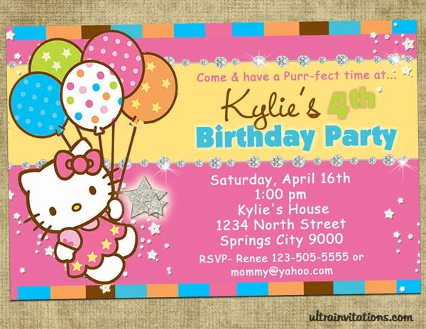 Invitation Birthdayhello Kitty