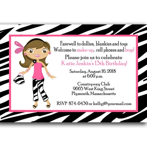 Invitation Cards For 13th Birthday Party