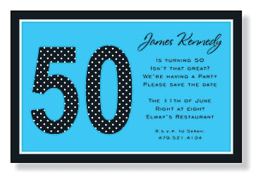 Invitation For 50th Birthday Party Wording