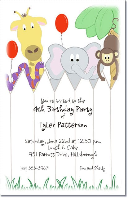 Invitation For Child Birthday