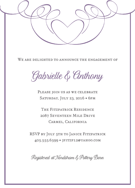Invitation For Engagement Party Wording