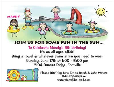 Invitation Ideas For Pool Party
