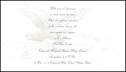 Invitation Of Graduation Ceremony