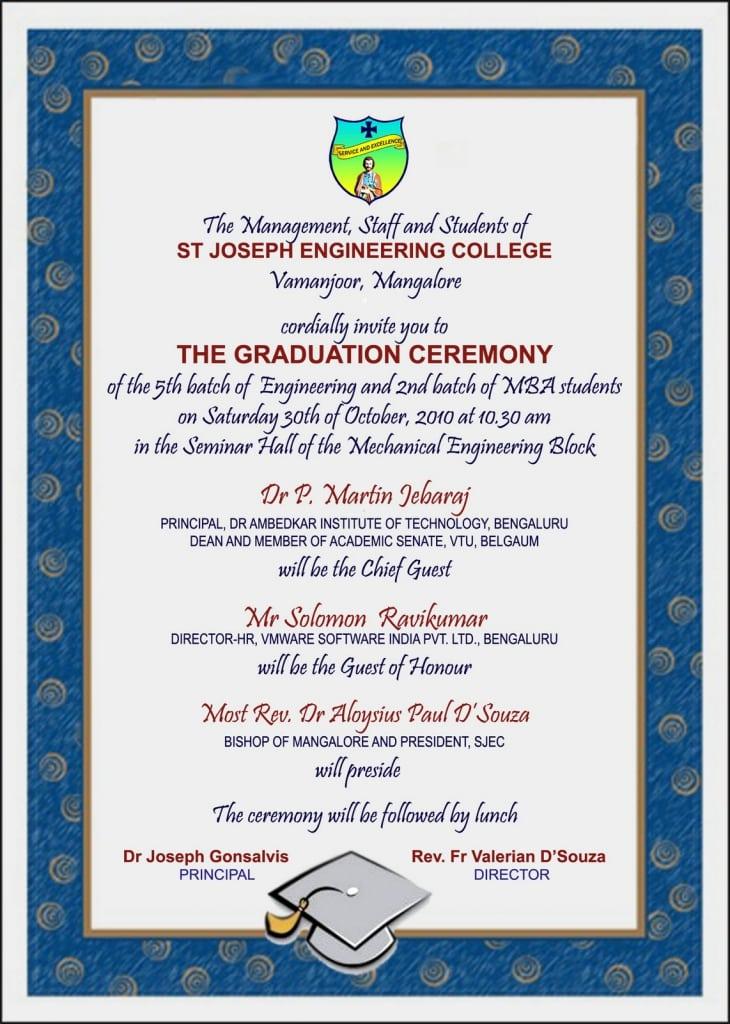 Invitation Of Graduation Day