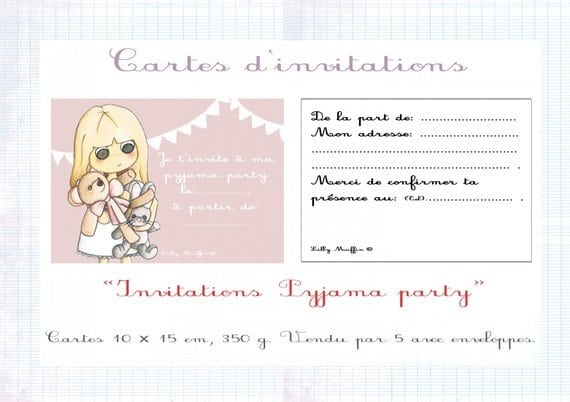 Invitation Party Pyjama