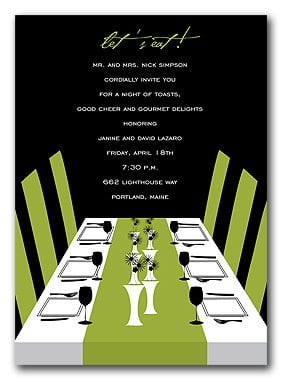 Invitation Templates Dinner Party Free
