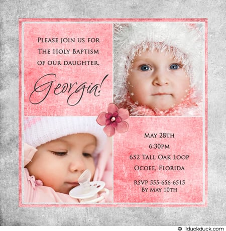 Invitation To Baptism Wording