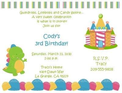 Invitation To Boys Birthday Party