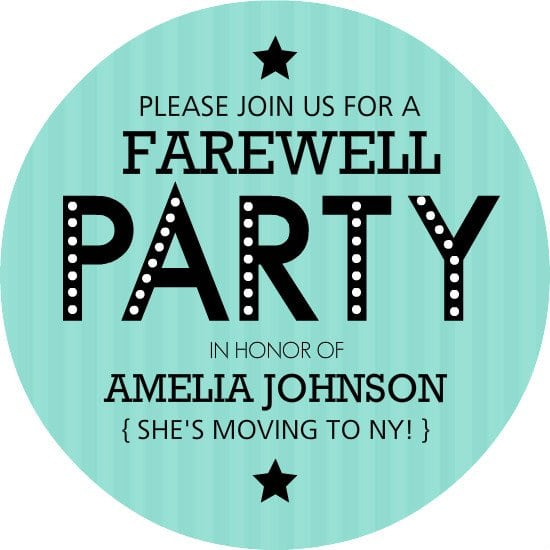 Invitation To Farewell Party Templates