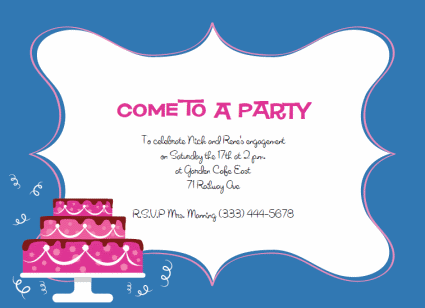 Invitation To Party Template