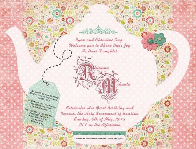 Invitation To Tea Party