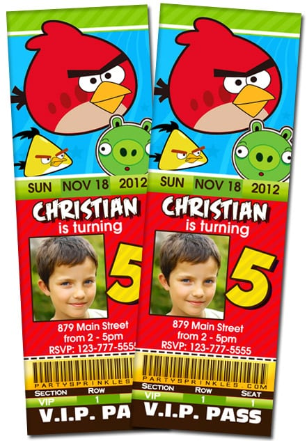 Invitations Angry Birds