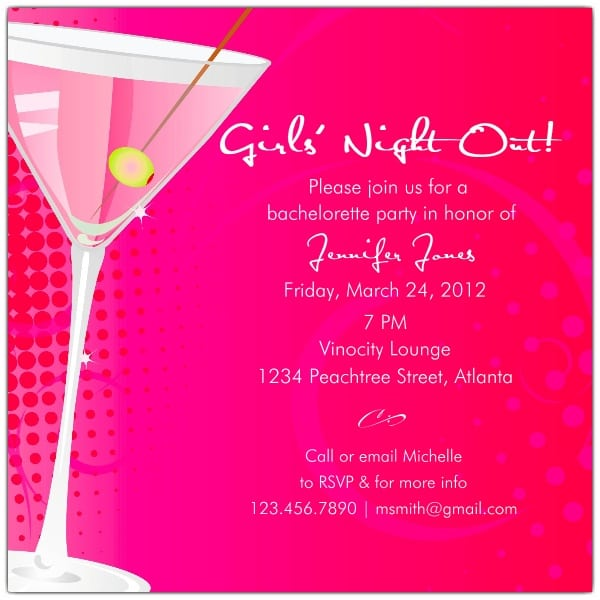 Invitations Bachelorette Party