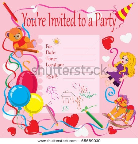 Invitations For Bday Kids Bday Parties