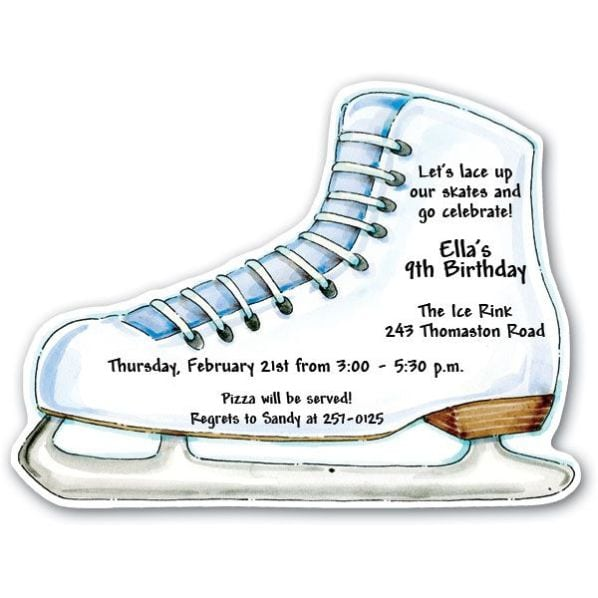 Invitations For Ice Skating Party