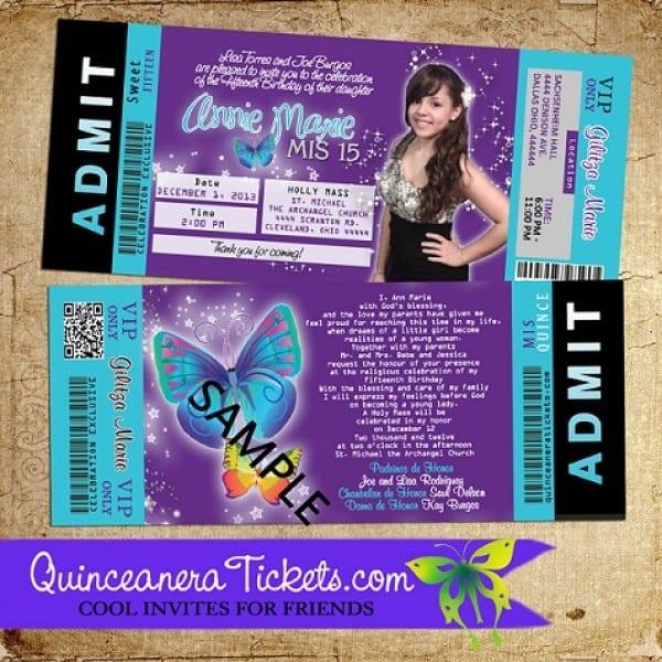 Invitations For Quinceaneras