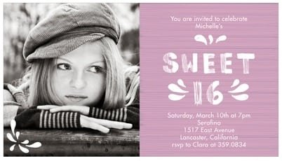 Invitations For Sweet 16 Ideas
