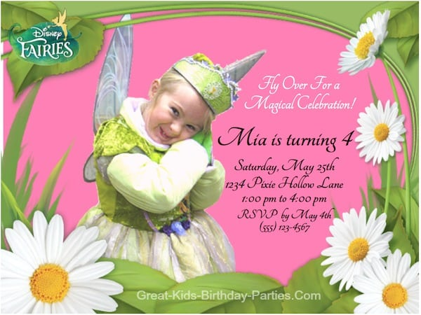 Invitations Of Tinkerbell