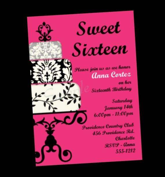 Invitations Printable Free 16th