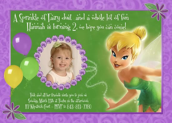 Invitations Tinkerbell