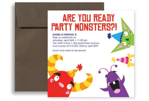 Kids Party Invitation Templates Free