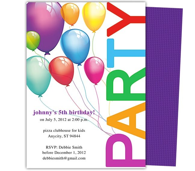 Kids Party Invite Template