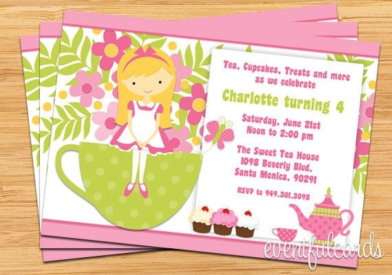Tea Party Invitations – Tea Party Invitations for Kids