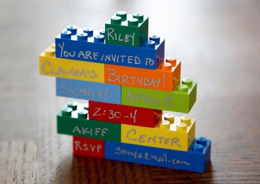 Lego Brick Invitation
