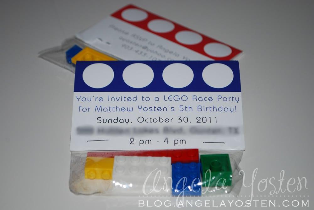 Lego Party Invitation Ideas