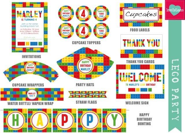 Lego Party Invitations Printable Free