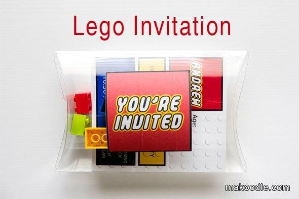 Lego Party Invite Ideas