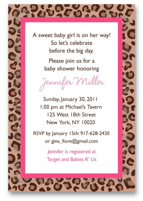 Leopard Print Invitation Templates