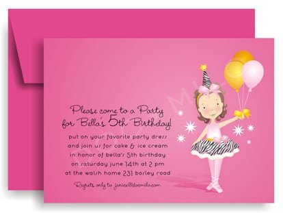 Little Girl Party Invitation Templates