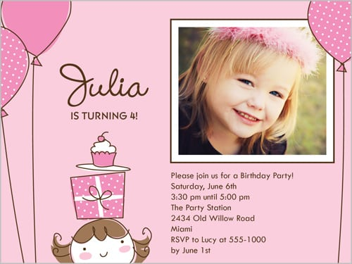 Little Girl Party Invitations