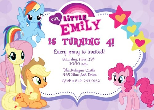 Little Girl Party Invitations Free