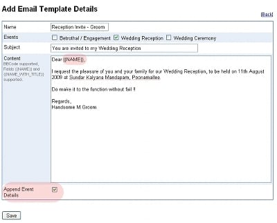 Marriage Invitation Format Email