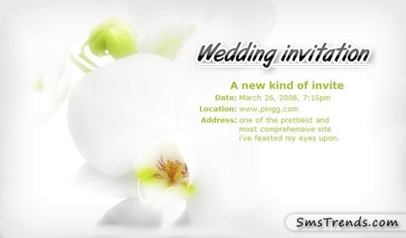 Marriage Invitation Format Sms