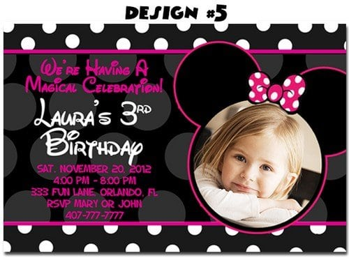 Mickey And Minnie Mouse Birthday Invitations Free