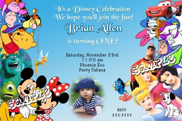 Mickey Birthday Invitations Free