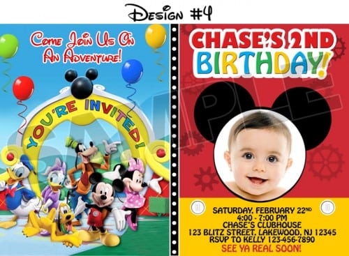 Mickey Mouse Bday Invitations