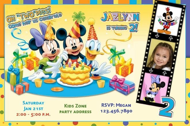 Mickey Mouse Clubhouse Birthday Invitations Templates