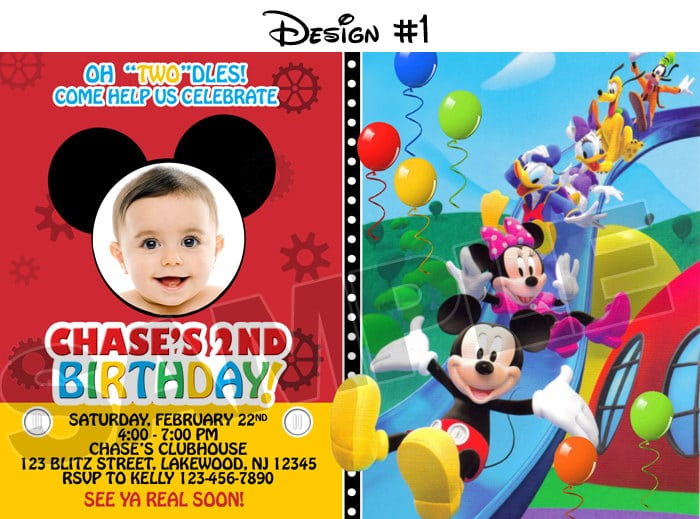 Mickey Mouse Clubhouse Birthday Party Invitations Free