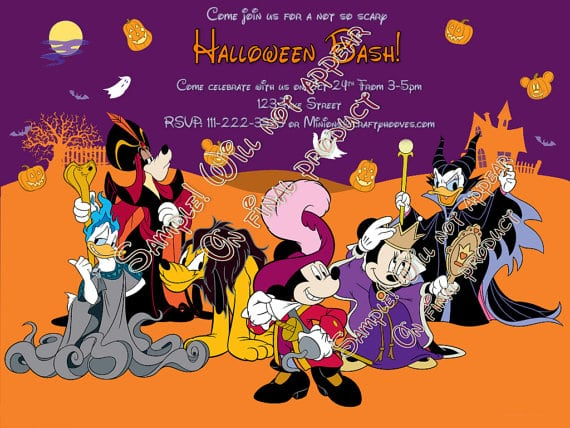 Mickey Mouse Clubhouse Halloween Party Invitations