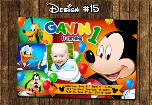 Mickey Mouse Clubhouse Invitations Walmart