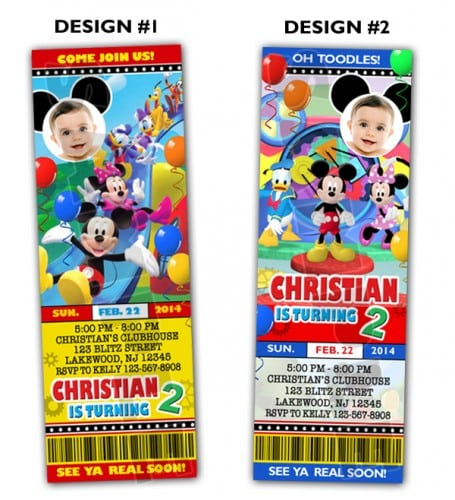 Mickey Mouse Clubhouse Party Invitations Printable