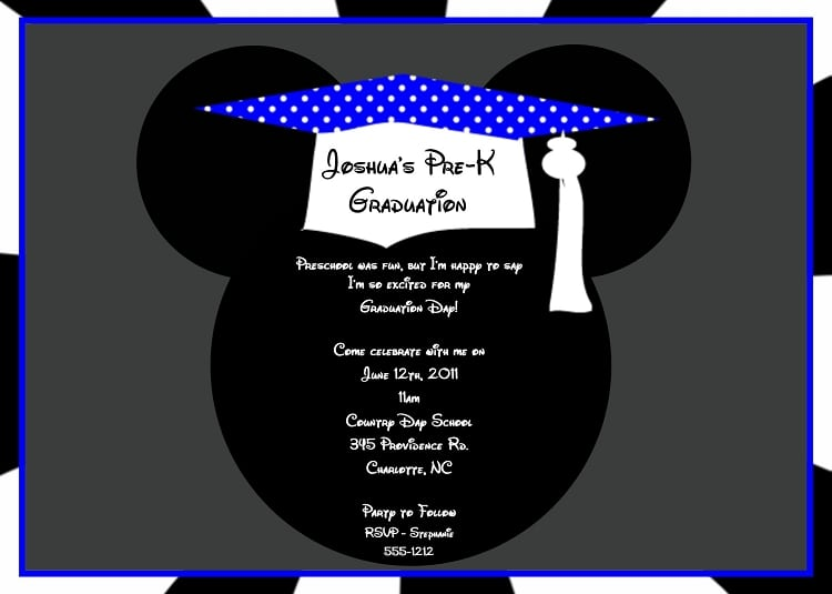 Mickey Mouse Graduation Invitation Templates