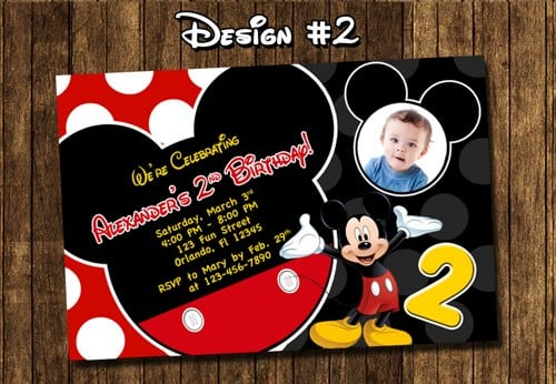 Mickey Mouse Invitations Printable