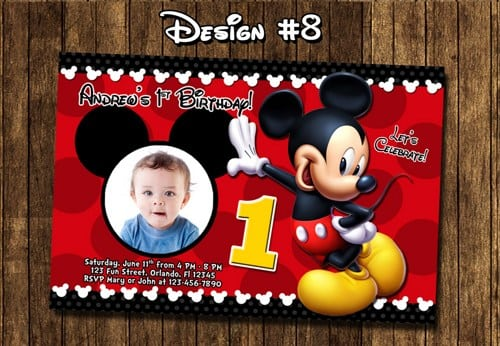 Mickey Mouse Party Invitations Printable